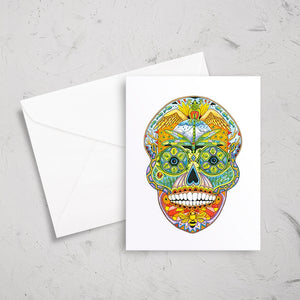 Sugar Skull Note Card