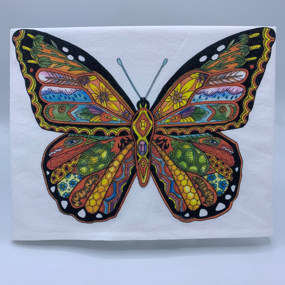 Moncarch Butterfly Flour Sack Towel