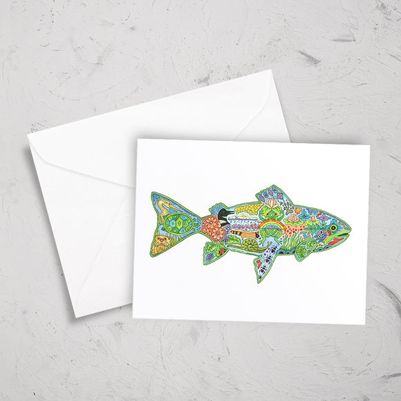 Trout Note Card