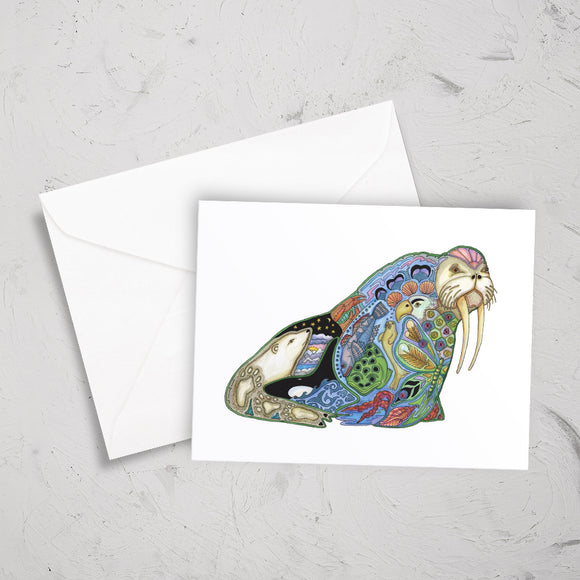 Walrus Note Card