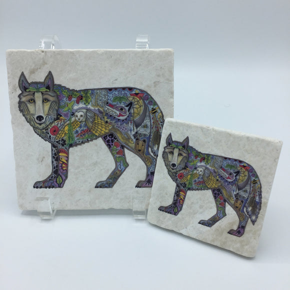 Wolf Standing Coasters and Trivets