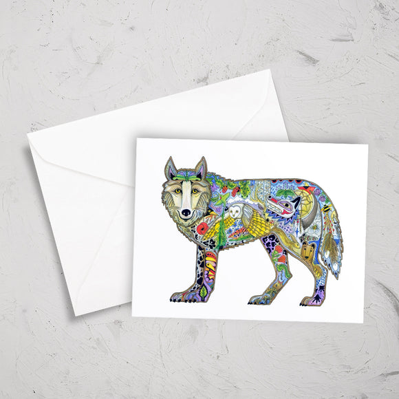 Wolf Standing Note Card