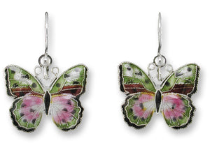 African Pink Forester Earrings