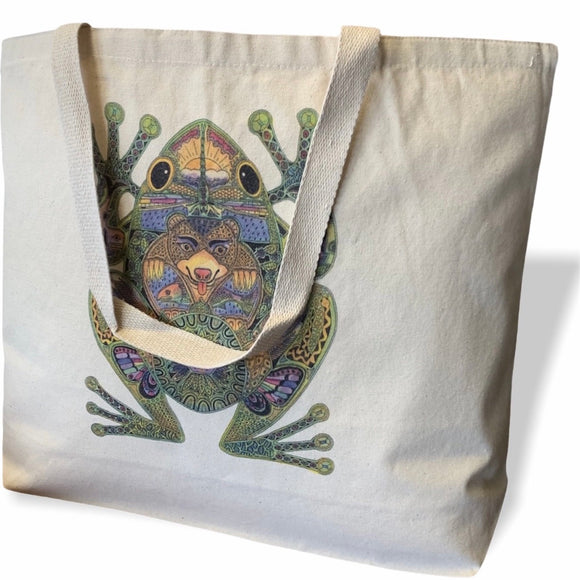 Frog Canvas Tote Bag - Large