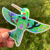 Hummingbird Holographic Sticker