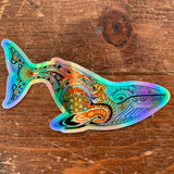 Blue Whale Holographic Sticker