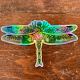 Dragonfly II Holographic Sticker