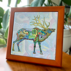 Elk Wood Framed Trivet