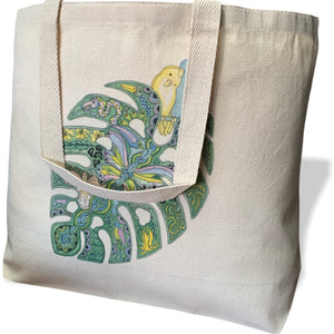Philodendron Canvas Tote Bag - Large