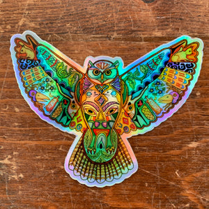 Great Horned Owl Holographic Sticker