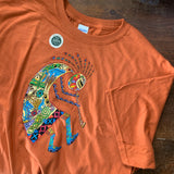 Kokopelli Orange Shirt