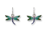 Red Eyed Damselfly Earrings/Pin