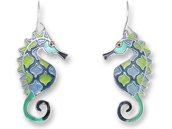 Swirly Seahorse Earrings