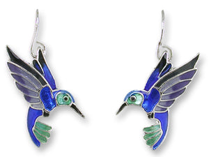 Violet Bellied Hummingbird Earrings