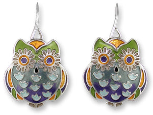 Wide Eyed Owl Earrings
