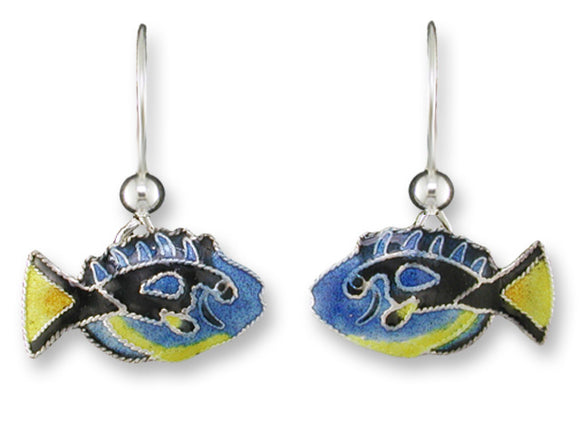 Yellow Belly Blue Tang Earrings