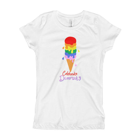 Celebrate Diversity Ice Cream Girl's T-Shirt