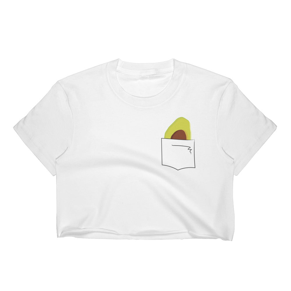 Avocado in my pocket Crop Top
