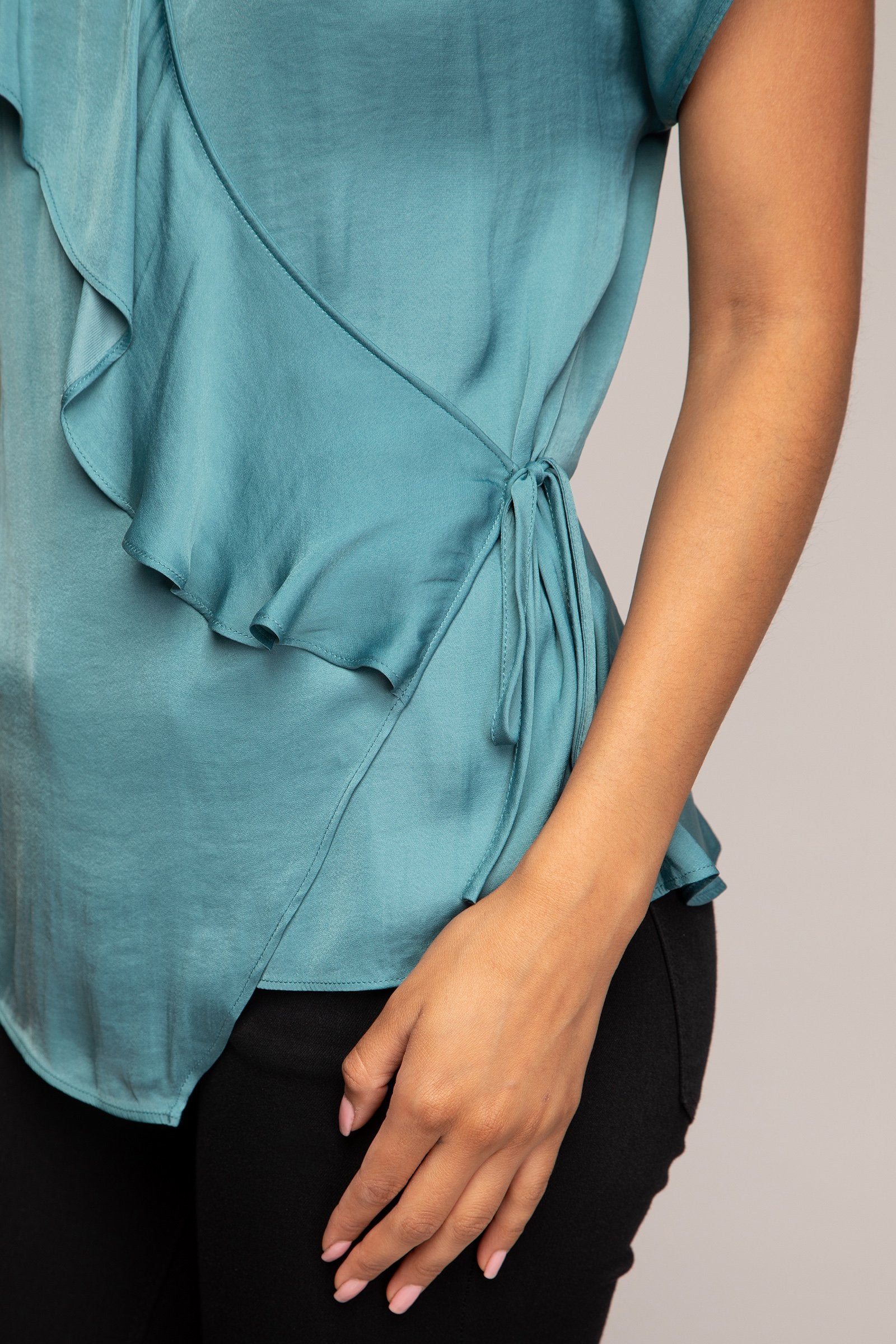 CAMBRIA RUFFLE WRAP TOP