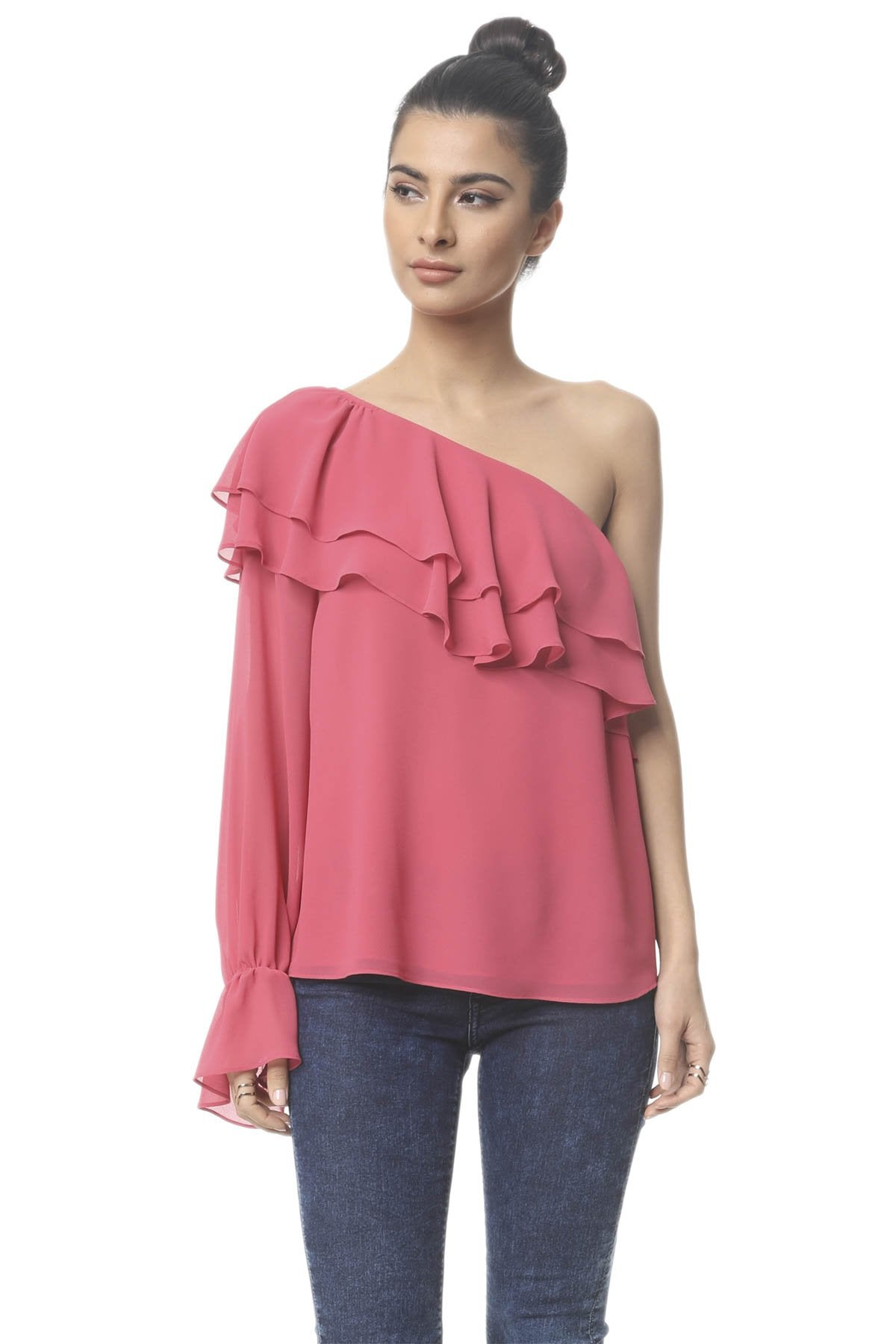 BETHANY ONE SHOULDER BLOUSE
