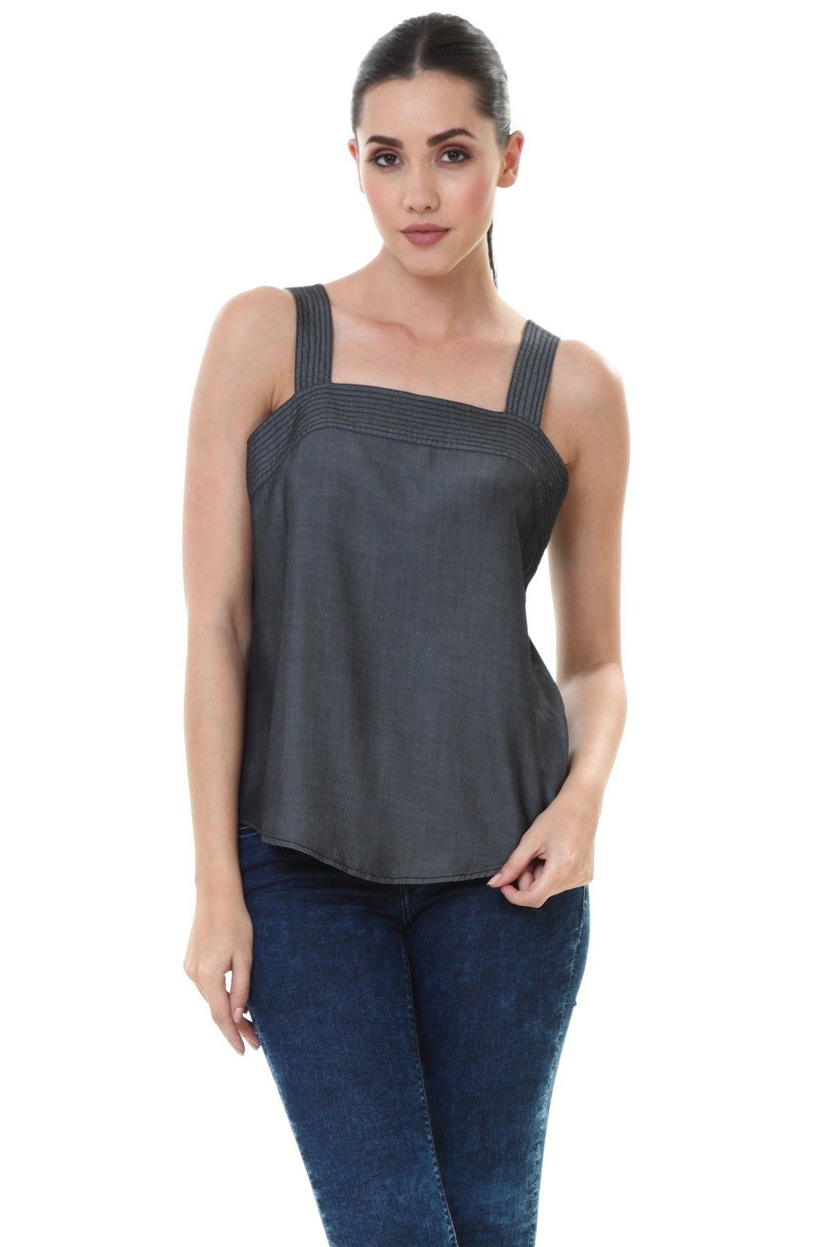 ASPEN TOP STITCH TENCEL TOP