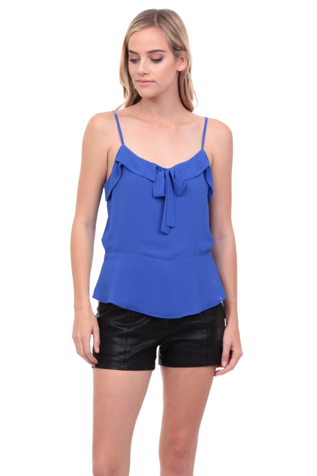 VIVIENNE FOLD OVER FRONT TIE TOP
