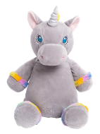 Sunflower Grey Unicorn Personalized Teddy Bear – Cubbies®