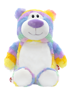 Cubbyford Pastel Stripe Personalized Teddy Bear – Cubbies®