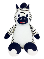 """Digby"" Zebra Personalized Teddy Bear – Cubbies®"