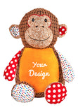 """Huggles"" Brown Monkey - Large Personalized Teddy Bear – Cubbies®"