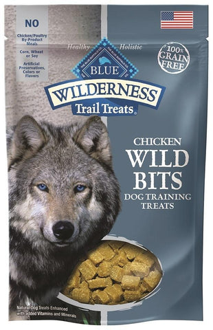 Blue Buffalo BLUE Wilderness Trail Treats Chicken Wild Bits Dog Treats