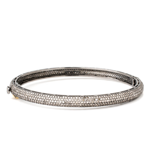 Large Black Diamond Bangle