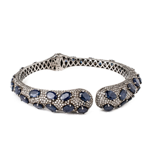 Gold & Diamond Entwined Bangle
