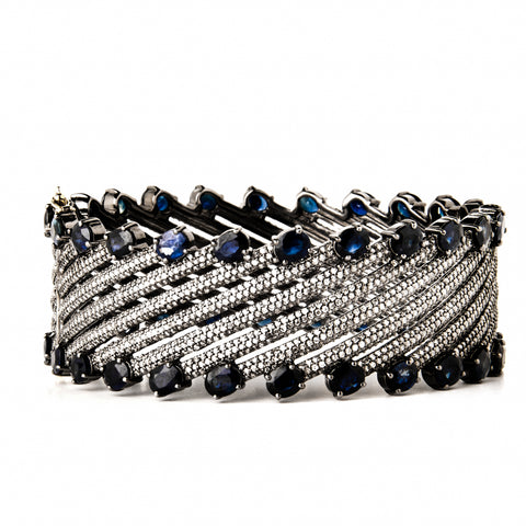 Black Diamond 5-Row Bangle