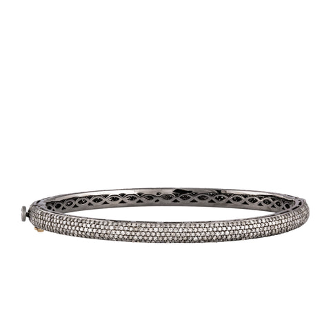 Single Loop Diamond Snake Bangle