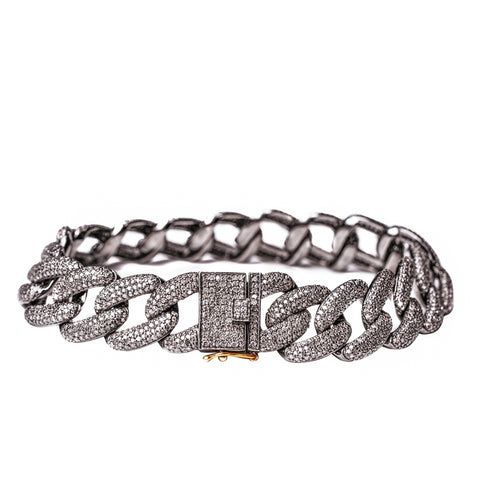 Chain Link Black Diamond Bracelet