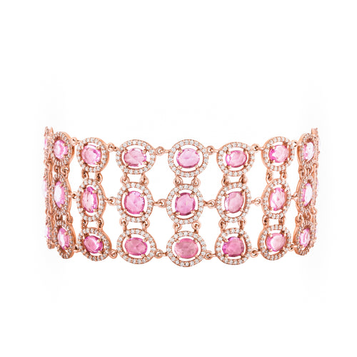 Pink Sapphire & Rose Gold Empress's Chambers Bracelet