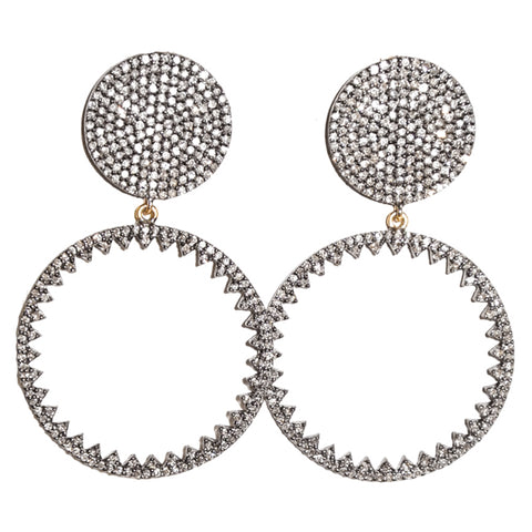 Ruby & Diamond Radial Earrings