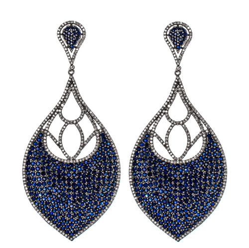 Taj Sapphire Drop Earrings