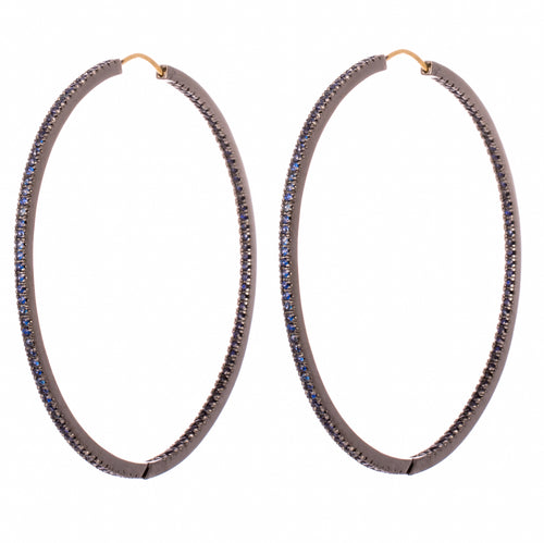 Large Sapphire Hoops