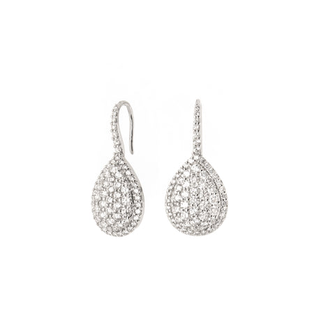 Diamond Snake Circle Earrings