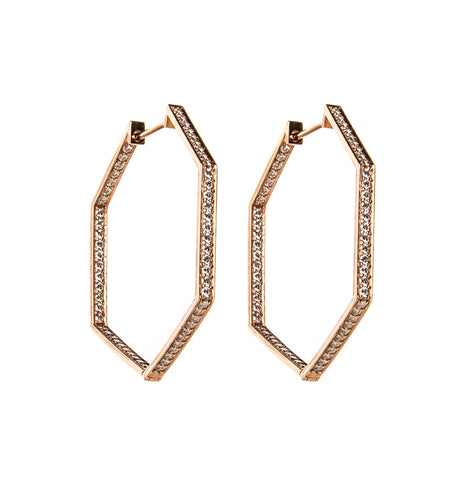 Ancient Egypt Rose Gold Earrings