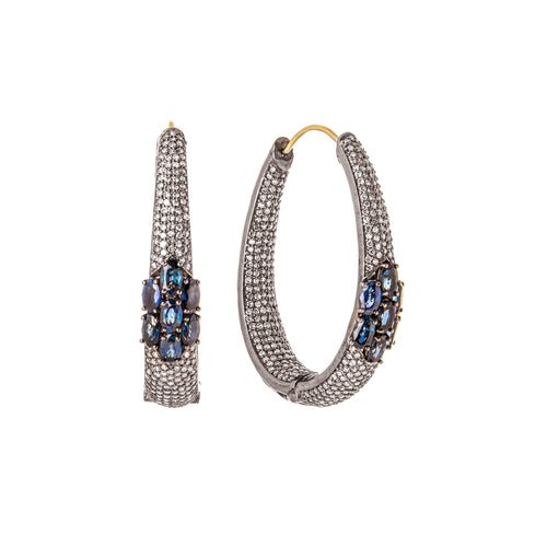 Sapphire & Diamond Nouveau Earrings