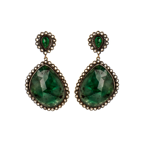 Emerald & Diamond Garden Dream Earrings