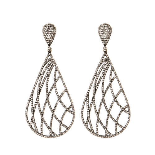 Neoteric Weave Diamond Earrings