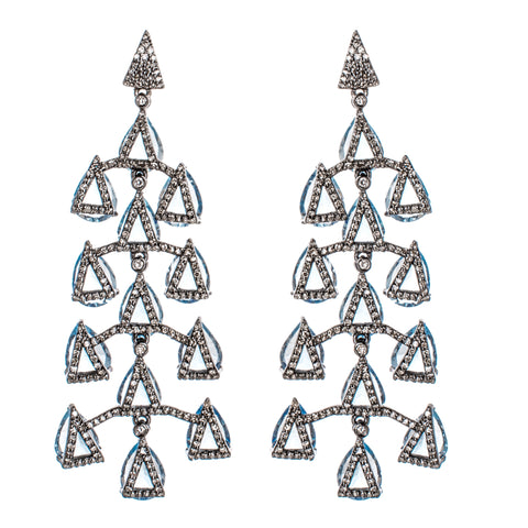 Green Amethyst Dew Drop Earrings