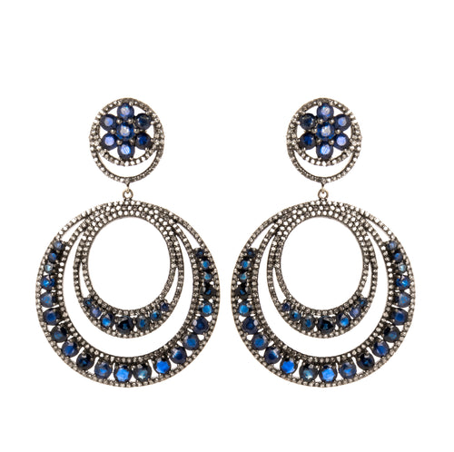 Sapphire & Diamond Revolution Earrings