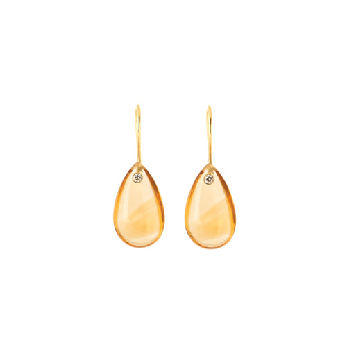 Golden Topaz Dew Drop Earrings