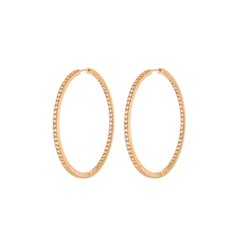 Medium Ruby Hoops