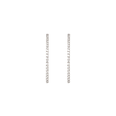 Champagne & White Diamond Keystone Earrings